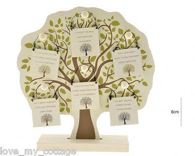 Wooden Tree of Life Motivational Hanging Mini Sign Phrase Gift Tag Keepsake