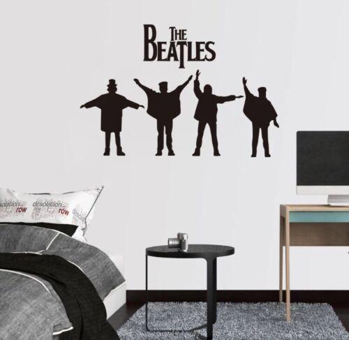 "NEW 28"" x 19"" Beatles HELP Album Cover Silhouette Black Vinyl Wall Art Decal"
