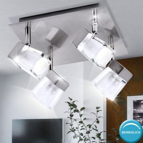 Wand Leuchten Schlaf Zimmer Strahler Glas Würfel Spot Decken Lampen verstellbar