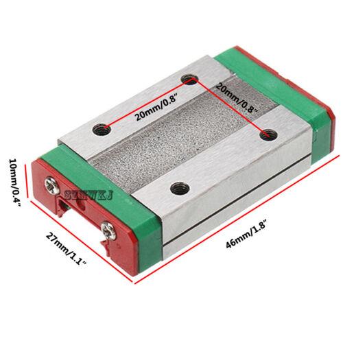 12mm Miniature Linear Slide Rail Guide MGN12H Sliding Block DIY CNC 3D Printer