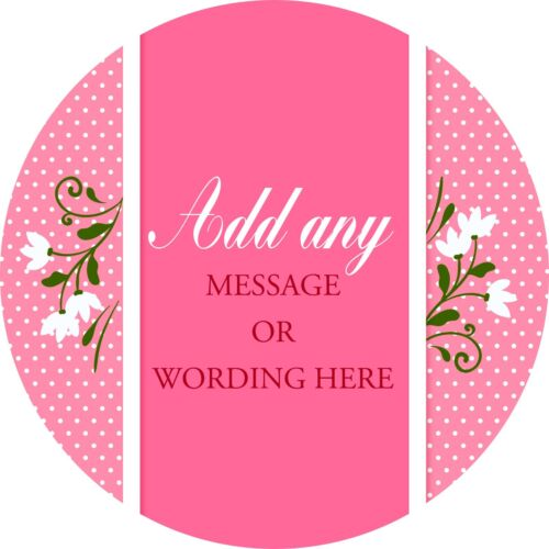 Christening White Flowers Sticker Labels for Party Bag Sweet Cones
