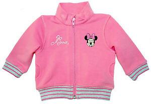 Neu-Disney-Minnie-Mouse-Stretch-Sweatjacke-Jacke-Blouson-Pulli-pink-62-68-74