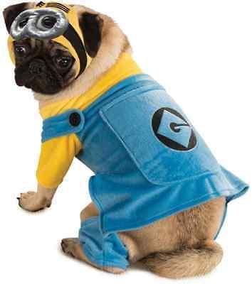 Minion Despicable Me Movie Fancy Dress Up Halloween Pet Dog Cat Costume