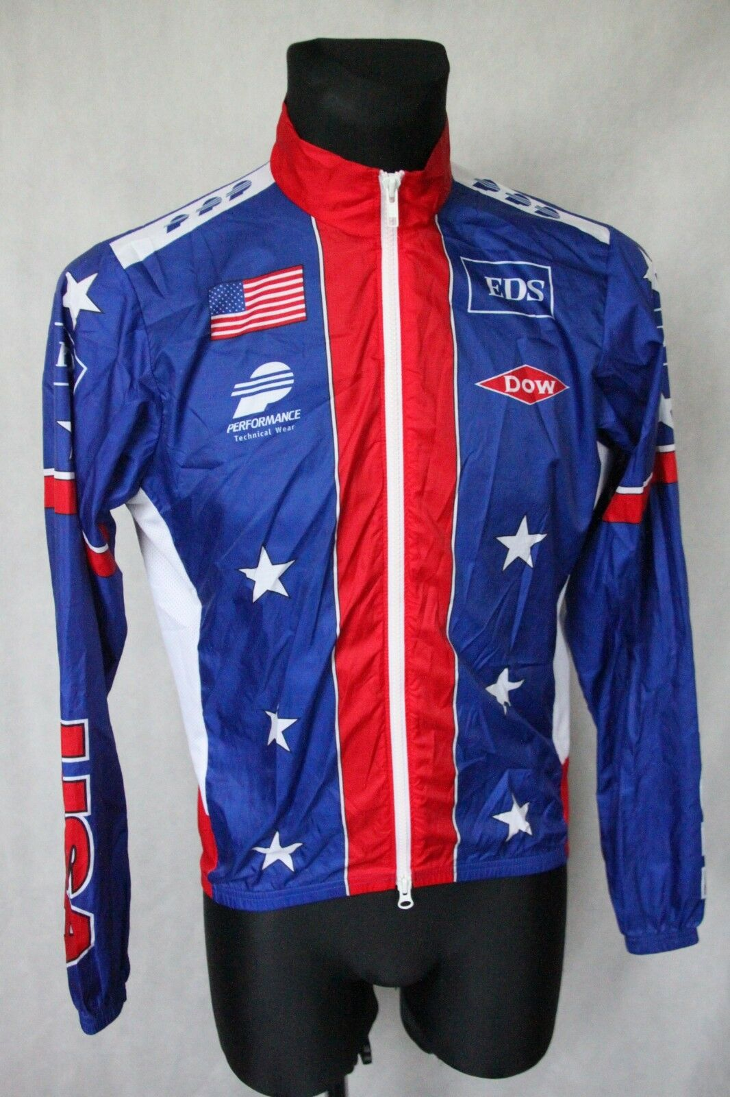 USA PERFORMANCE TECHNICAL  WEAR Cycling Jersey Long Sleeve Top Full Zip sz Small  first-class quality