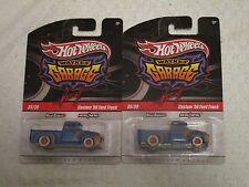 Mattel Hot Wheels Wayne's Garage Custom '56 Ford Truck #35/39 Blue Lot of 2