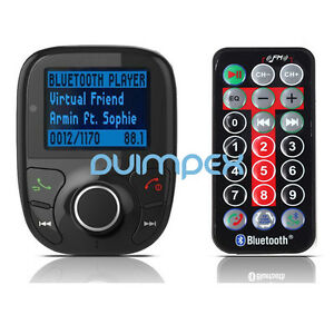 F01 Vehicle MP3 Player FM Transmitter Bluetooth BT HANDS FREE TF USB Recharge