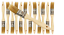 12 Pk Stains,Varnishes,Glues,Gesso 1 inch Chip Paint Brushes for Paint