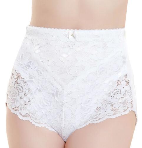 Medium Tummy Tuck Control Lace Body Bum Lift Shape Wear Briefs Knickers Ladies