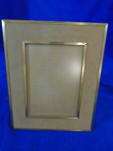 Vintage-Brown-Felt-and-Gold-Picture-Frame-8x10-034