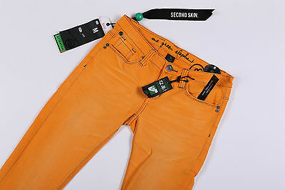### Oge One Green Elephant Kosai 7/8 Damenjeans Second Skin Orange Sommerhose ## Elegante Form