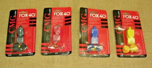 Fischietto Fox 40 senza pallina nero rosso blu giallo con laccetto super potente