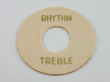 AGED Round CREAM RHYTHM TREBLE TOGGLE SWITCH PLATE for 1959 Les Paul Gibson