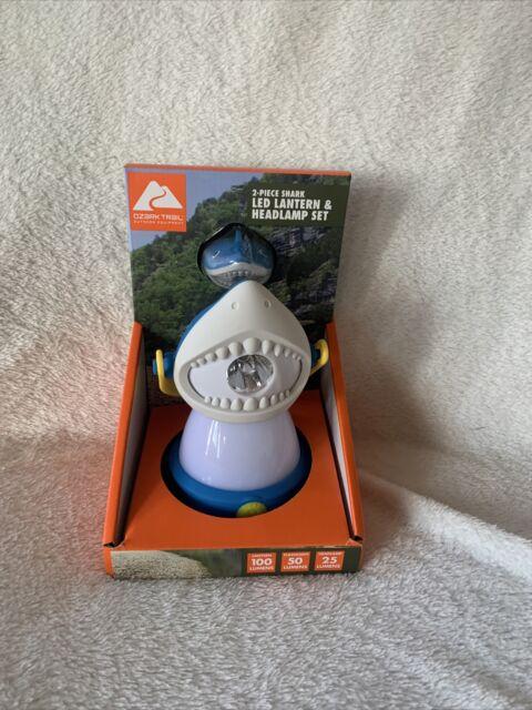 Ozark Trail 2piece Shark LED Lantern /& Headlamp Set Hiking Camping Ship for sale online