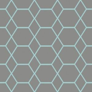Casca-Papier-Peint-Geometrique-Charbon-Bleu-Muriva-147505-Neuf