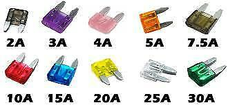 11mmx15mm 10x Assorted Mini Blade Fuses o//e spec fits TOYOTA