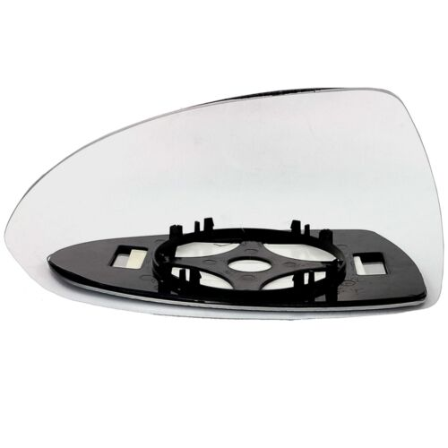 Left passenger side for Vauxhall Corsa D 06-14 wing door mirror glass clip on