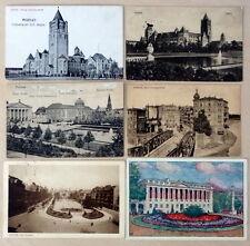 POLAND POZNAN  1922-1939  6 OLD VIEW POSTCARDS