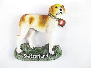 Schweiz-Bernhardiner-Hund-Poly-Souvenir-Magnet-Switzerland-Neu