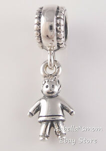 2bfffc807 Image is loading BOY-SON-GRANDSON-Authentic-PANDORA-Silver-DANGLE-Family-
