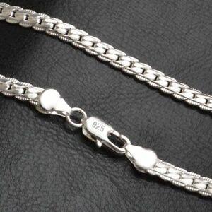 Herren-Halskette-Panzerkette-925-Sterling-Silber-plattiert-Kette