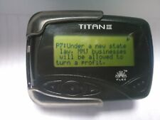NO MONTHLY FEE Pager with News Updates Titan 3 Alphanumeric Beeper + HOLSTER