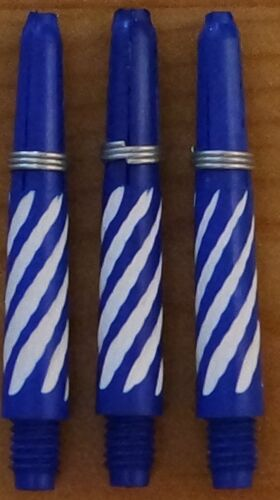 "2BA 5 Sets Spiroline Plus /""Blue+White/"" short Deflectagrip Dart Stem//Shaft 5X3"