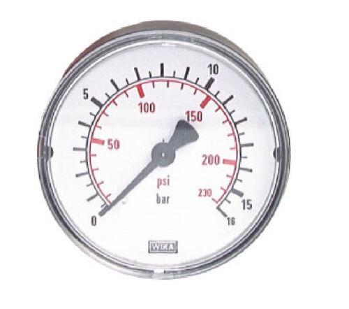 """100 mm MANOMETER WAAGERECHT 0//1 bar G 1//4/"""" Industrie"""