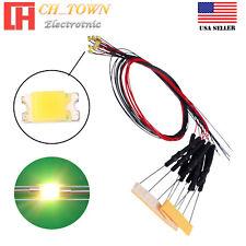10pcs Dc6 12v 0603 1608 Warm White Lights Smd Led Diodes Pre Wired 20cm Line