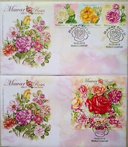 Malaysia FDC with Miniature Sheet & Stamps (14.02.2014) - Roses Series II