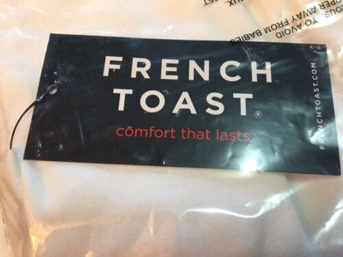 French Toast Set de 2 grands garçons à encolure ras-du-cou 100/% coton tee-shirt Blanc Taille 10//12