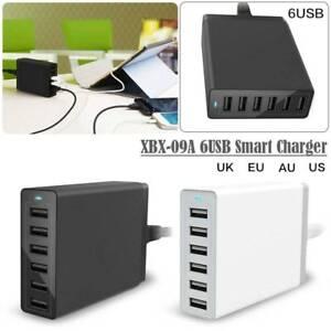 6port usb charging hub 10a 50w ac desktop high speed smart charger rh ebay com