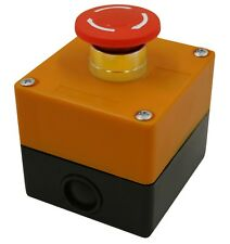 Emergency Stop Button Switch Red 22mm 78 With 1 Hole Switch Box Stop Button