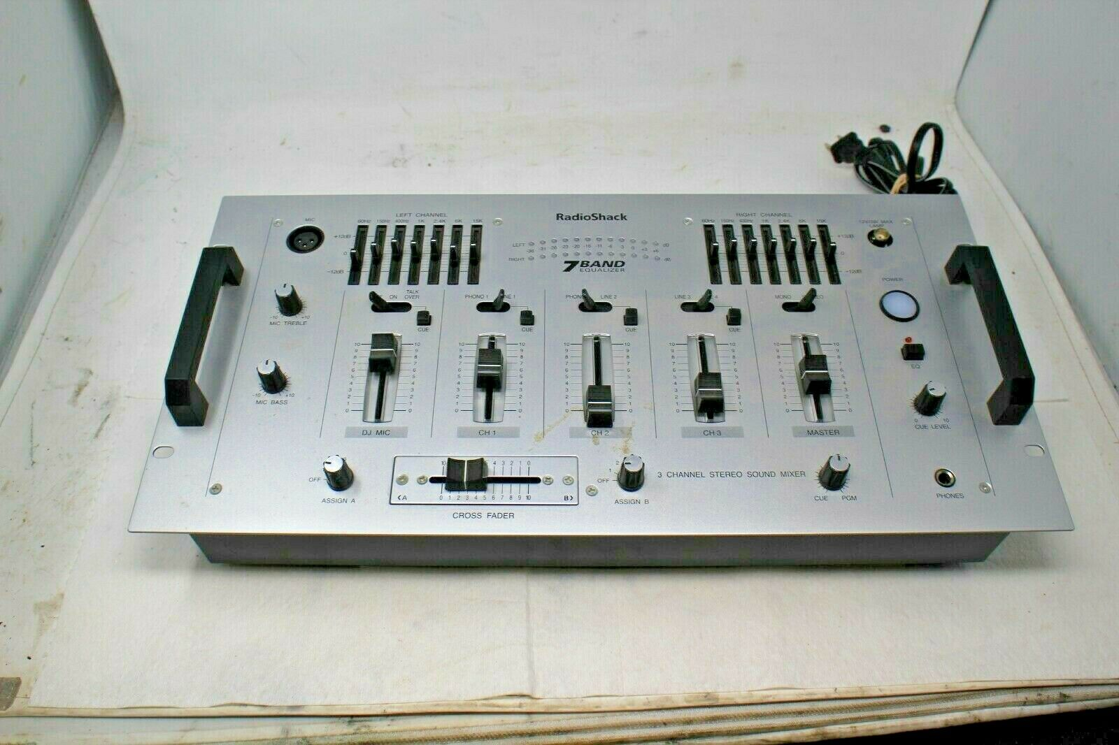 RadioShack 3 Channel Stereo Sound Mixer 7 Band Equalizer FREE SHIPPING. Buy it now for 79.99