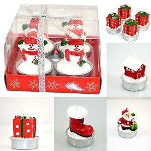 Image Is Loading 4 Candles Novelty Christmas Decorative Xmas Party Home