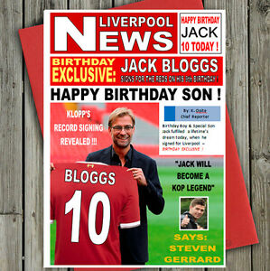 Personalised liverpool fan birthday card great large a5 size image is loading personalised liverpool fan birthday card great large a5 bookmarktalkfo Choice Image