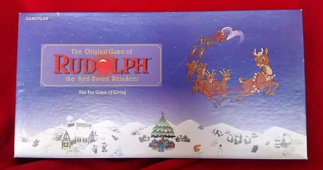 Vintage Rudolph the rouge Nosed Reindeer Board Game Montgomery wards ORIGINAL 1995