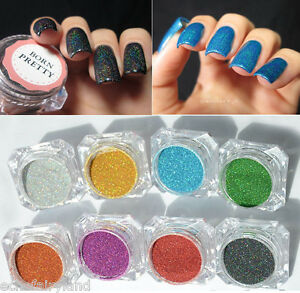 Image Is Loading Holo Effect Nail Holographic Dust Mermaid Trend Laser