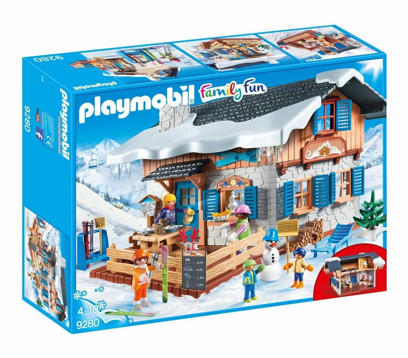 PLAYMOBIL® Family Fun Fun Fun - SKIHÜTTE / WINTER SKI LODGE - Playmobil 9280 - NEU b5f00f