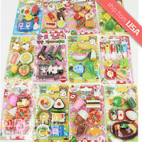 Japanese Eraser Kawaii Cute Miniature Food Snack Animal Vehicle Collectable Set