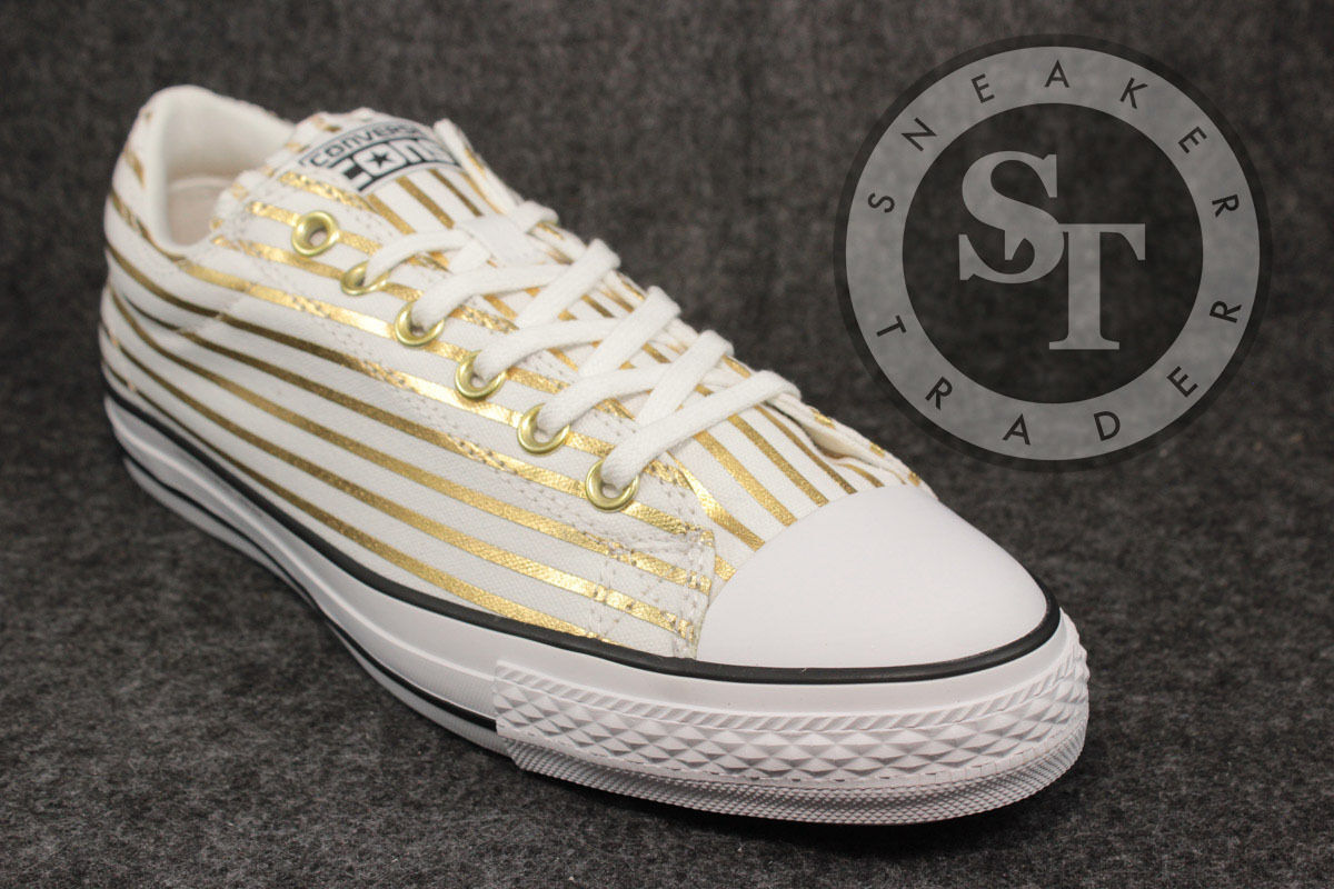 CONVERSE CTS CHUCK TAYLOR OX 148371C FRAGUomoT WHITE RICH GOLD DS SIZE: 8.5
