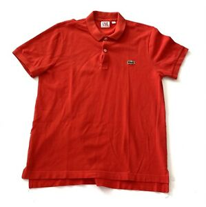 Lacoste-Live-Alligator-Mens-Red-Golf-Polo-Shirt-Mens-Size-2-XS-Extra-Small