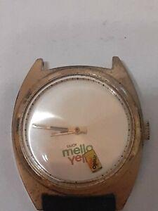 Vintage Circa 1978 Mello Yello Wrist Watch For Parts Or Repair