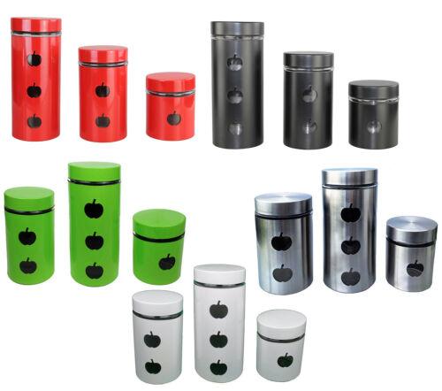 Vorratsdose 3 er Set Vorratsbehälter Frischhaltedose Aufbewahrung Dose Glas