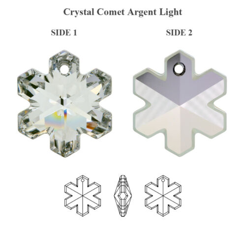 Many Sizes /& Colors Genuine SWAROVSKI 6704 Snowflake Crystals Pendants