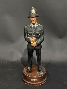 Antique-Dated-1955-Police-Models-Heavy-Resin-On-Wooden-Stand