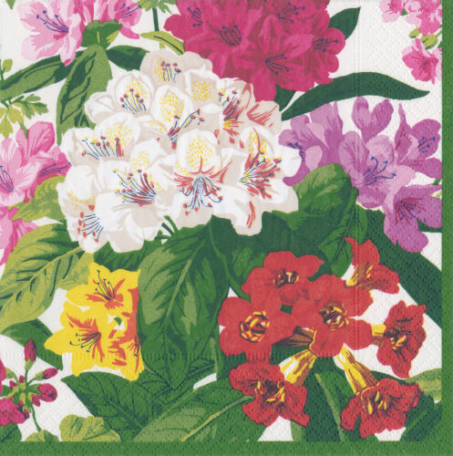 Pink floral patterned napkins 4 individual napkins ideal for decoupage projects