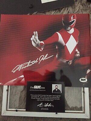 Signed Photo Of Austin St John As Red Ranger Jason Power Rangers With Coa Ebay