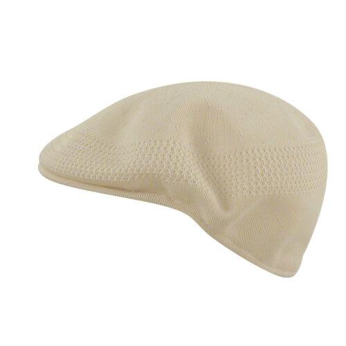 S KANGOL Hat 504 Tropic Ventair Summer Flat Cap 0290BC Natural Sizes XL