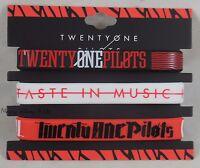 21 Twenty One Pilots Logo Taste In Music Rubber Bracelet 3 Pack Wristband