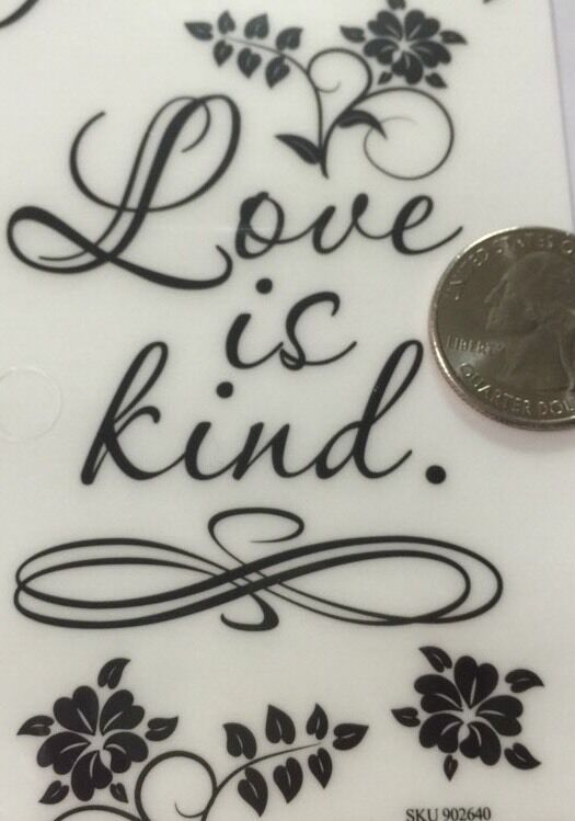 Large Love Is Patientlove Is Kind Poem Rub Ons3x775bellisimo Floralsaying